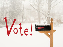 Vote By Mail Concept US Presid...