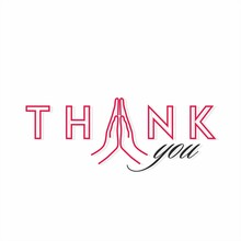 Thank You Typography - Vector Illustration