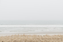 Foggy Beach In The Early Morning