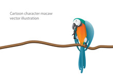 Playful Posture Macaw Characte...