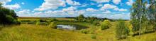 Panoramic Summer Rural Landsca...
