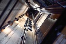 Inside An Elevator Shaft
