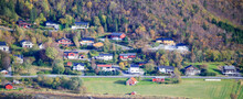 Berg Center And Residential Area Seen From The Mountain