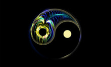 Yin And Yang Button, Icon Isol...