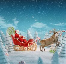 Happy Santa Claus In Christmas...