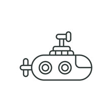 Mini Submarine Icon. Robotic Symbol Modern, Simple, Vector, Icon For Website Design, Mobile App, Ui. Vector Illustration