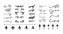 Dividers Ornaments Line Style Icon Collection Vector Design