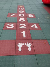The Footprints And Hopscotch Are On The Playground Design For Fun