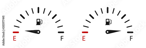 Obraz Fuel gauge indicators. Vector illustration. Fuel gauge level. - fototapety do salonu