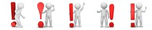 Exclamation Points Exclamation Marks 3d Red Warning Sign Symbol Icon