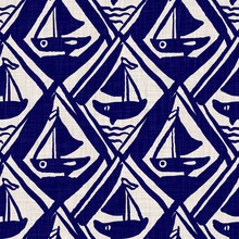 Nautical Navy Blue Sailing Boa...