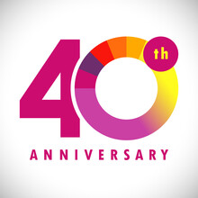 40 Th Anniversary Numbers. 40 ...