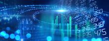 Defocused Image Of  Fiber Optics Lights On Business Background