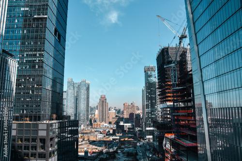 Foto de los rascacielos desde The Vessel, Nueva York