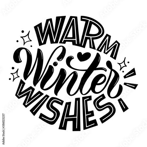 Obraz na plátně Warm winter wishes