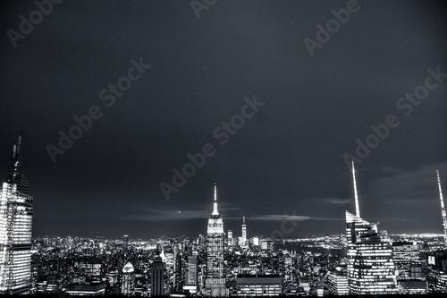 Foto de noche del skyline de Nueva York