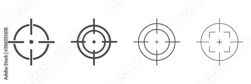 Obraz na plátně Target destination icon set
