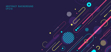 Creative Abstract Dynamic Geometric Elements Pattern Design And Background