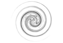 Curve Rotated Volute, Helix Shape. Spiral, Swirl And Twirl Design Element. Cyclic Rotation, Curl Design. Vector