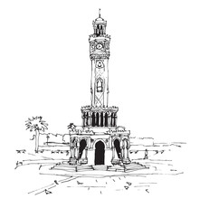 Drawing Sketch Of The Clock To...
