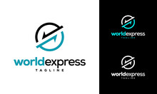 World Express Delivery Logo, L...
