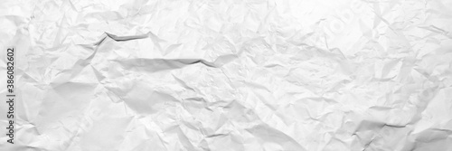 Obraz wide panorama crumpled paper texture background. crush paper so that it becomes creased and wrinkled. - fototapety do salonu