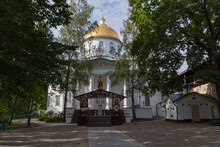 St. Michael Cathedral Of The Holy Dormition Pskovo-Pechersky Pskov-Caves Monastery. Pechory, Russia