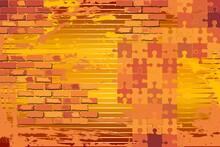 Shiny Grunge Orange Background...