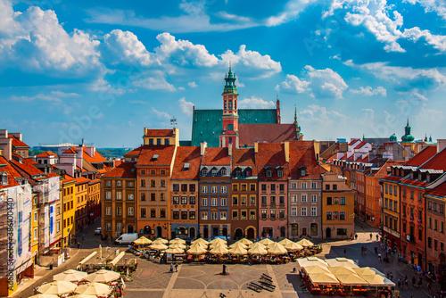 Obraz Market square in Warsaw - fototapety do salonu