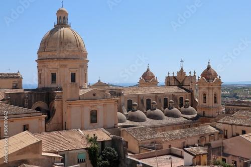 Fotografía Noto - Cupole del duomo dal campanile della Chiesa di Montevergine