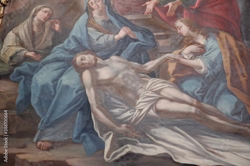 Fotomural Noto - Deposizione, olio su tela, nella Chiesa di Montevergine