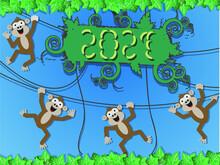 2021 HAPPY NEW YEAR MONKEY STYLE