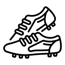 Competition Football Boots Icon. Outline Competition Football Boots Vector Icon For Web Design Isolated On White Background