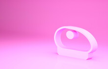 Pink French Beret Icon Isolate...