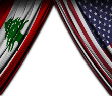Flag Of Lebanon And The United...