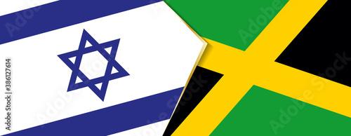 Obraz na plátně Israel and Jamaica flags, two vector flags.