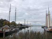Sailships In The Harbor Of Sloten