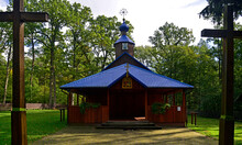 A Wooden Church Built In 1846, The Orthodox Church Of The Holy Maccabees In The Krynoczka Wilderness Near The Town Of Hajnowka In Podlasie, Poland
