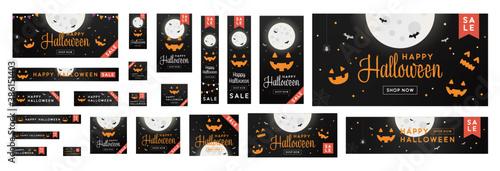 Fotografie, Obraz Standard size ad banner complete set for Halloween sale