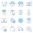 Shopping icon set. Shopping, linear symbols collection. Premium symbols isolated on a white background.