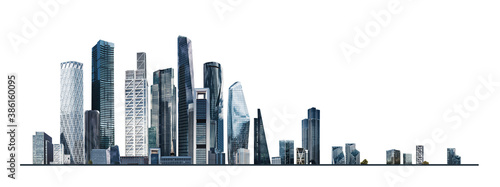 Modern City illustration isolated at white with space for text Fototapet