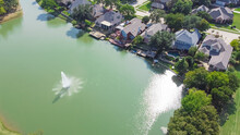 Aerial View Luxury Waterfront ...
