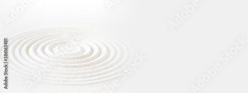 Obraz Zen japanese garden background. Horizontal banner - fototapety do salonu