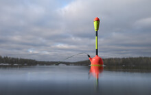 Fishing Float In The Lake Clos...