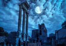 Roman Forum At Night, Rome, It...