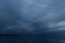 Gloomy Dark Blue Overcast Sky ...