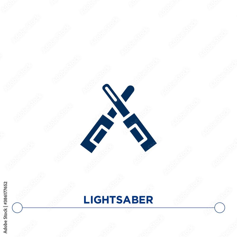 Fotografie, Obraz lightsaber icon on white background