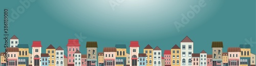 horizontal banner city landscape vector
