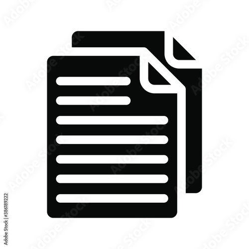 Fototapety, obrazy: Document vector icon. file icon.  Illustration isolated for graphic and web design.