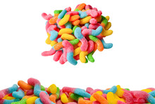 Juicy Colorful Jelly Sweets Is...